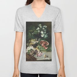 Floral Painting Unisex V-Neck