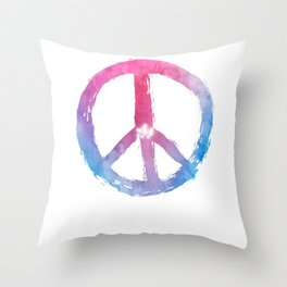 Peace Symbol for Love and World Peace Throw Pillow