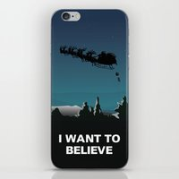 i want to believe iPhone & iPod Skins featuring I want to believe by Fresco Umbiatore