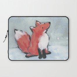 fox in snow Laptop Sleeve