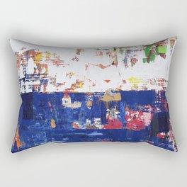 Myth Modern Art Blue Rectangular Pillow