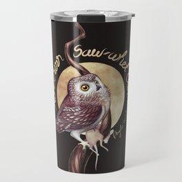 Northern Saw-whet Owl Travel Mug