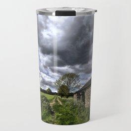 Green Stones Countryside Farm House Travel Mug