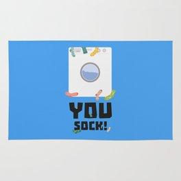 You Sock Funny Slogan Rug