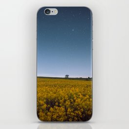 Starry Skies Over Canola iPhone Skin