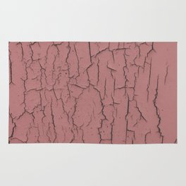 Pink cracked wall paint abstract art wall decor Rug