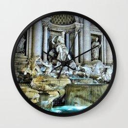 Rome, Italy - Trevi Fountain Wall Clock
