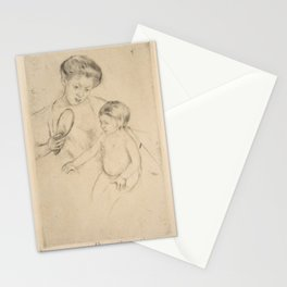 Mary Stevenson Cassatt (1844–1926), Margot Leaning Against Her Mother Stationery Cards