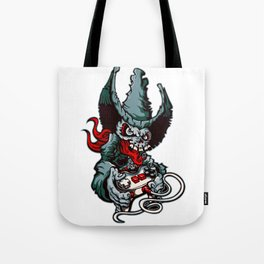 Gamer Skull -  Bermuda Grey Tote Bag