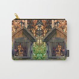 Ancient forest worker monument | architectural photography Carry-All Pouch