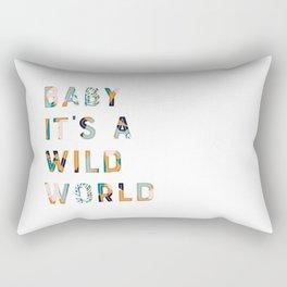 Baby It's a Wild World Rectangular Pillow
