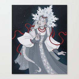 The Snow Maiden Canvas Print