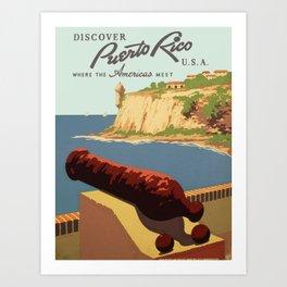 Vintage poster - Puerto Rico Art Print