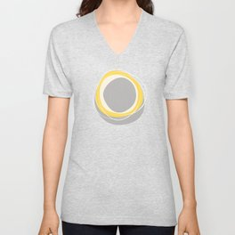 Solar Eclipse MCM Gray-Yellow Unisex V-Neck