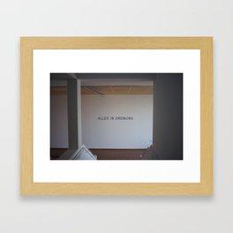 All is in Order Framed Art Print