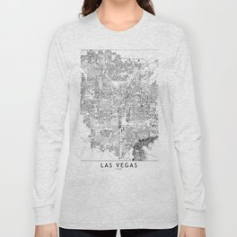 Las Vegas White Map Long Sleeve T-shirt
