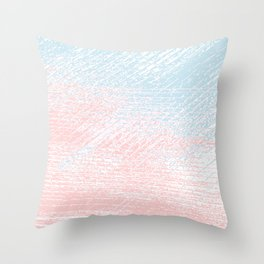 pink pastel and blue pastel Throw Pillow