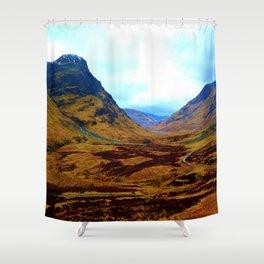 Glencoe, Scottish Highlands, in the Autumn Shower Curtain
