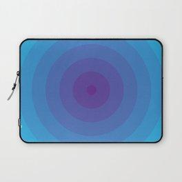 Bullseye in Blue Laptop Sleeve