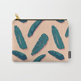 Falling Blue Leaves #society6 #decor #buyart Carry-All Pouch