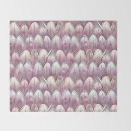 Magnolia Blossom in Blush Throw Blanket