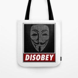 Binairy Vendetta: Disobey Tote Bag