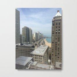 Sunny Chicago Days Metal Print