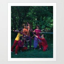 5 of Wands Art Print