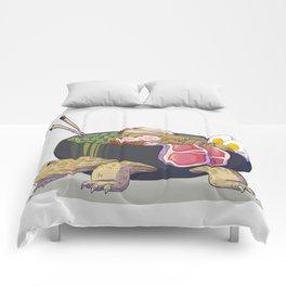 Ramen tortoise Comforters