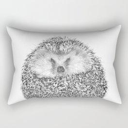 Black and White Hedgehog Rectangular Pillow