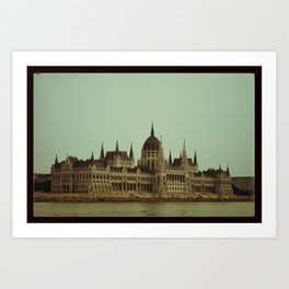 A hot day in Budapest Art Print