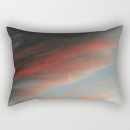 Moon and Sunset Rectangular Pillow