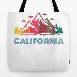 Retro California Design for Men Women and Kids Tote Bag