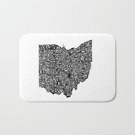 Typographic Ohio Bath Mat