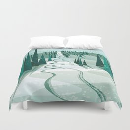 Winter Slope Duvet Cover