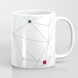 Triangle pattern background in line. Colorful mosaic banners. Vector illustration with graphic lines Coffee Mug