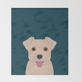 Blair - Norfolk Terrier gifts for dog lovers and pet owner gift ideas. Dog people gifts Throw Blanket