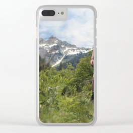 Hiking Man Clear iPhone Case