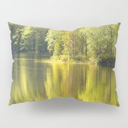 Summer Green Reflection Pillow Sham