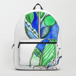 Bohemian Spirit Feathers - Blue & Green Backpack