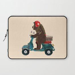 scooter bear Laptop Sleeve