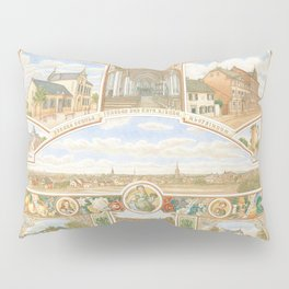 Vintage greeting from Opladen Pillow Sham