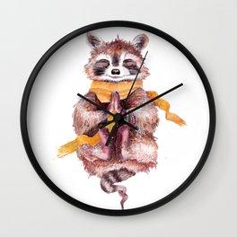 Raccoon buddha Wall Clock