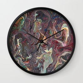 Abstract Oil Painting 22 Wall Clock