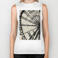 ferris wheel Biker Tanks featuring Ferris Wheel by Phoenix Prints
