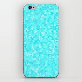 Blue triangle background iPhone Skin
