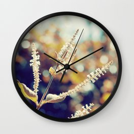 I sit in my garden, gazing upon a beauty that cannot gaze upon itself.   Wall Clock