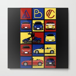 Kei Cars ABC Metal Print