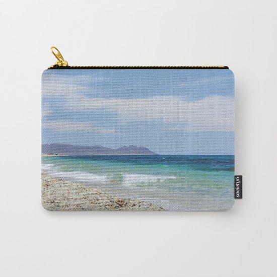 """Blue beach. Summer dreams"" Carry-All Pouch"