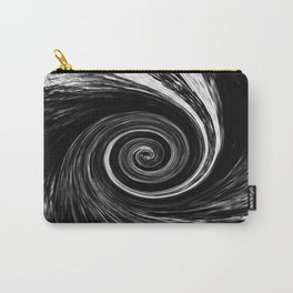 Center of The Vortex black and white 1 Carry-All Pouch